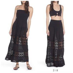 Chelsea28 Convertible Crochet Strapless Maxi Dress